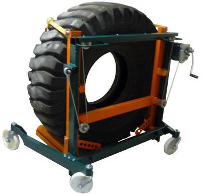 Арт. ТМТ-1200 Тележка монтажно-транспортировочная г/п 1200 кг для снятия/установки колес с карьерного самосвала