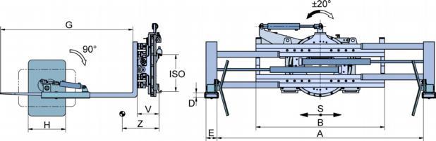 Технические характеристики навесного оборудования (колесосъемник) Германия для работы с колесами БелАЗ.