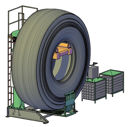 Vulcanizing System «Model  63» for OTR tyre repare size 49